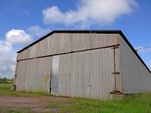 Abandoned metal warehouse Royalty Free Stock Photos