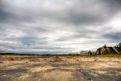 Abandoned military airfield Stock Photo