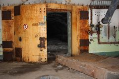 Abandoned military bunker royalty free stock photo