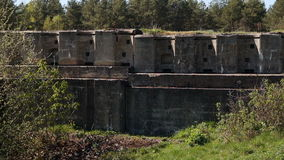 An abandoned military facility. During the First World war stock video