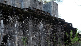 An abandoned military facility. During the First World war stock video footage