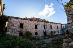 Abandoned military fort near the coast in croatia Royalty Free Stock Photo