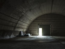 Abandoned military hangar Royalty Free Stock Image
