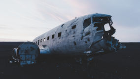 Abandoned military plane wreckage Royalty Free Stock Image