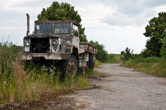 Abandoned military truck Stock Photos