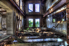 Abandoned mill. With floors bashed Stock Images