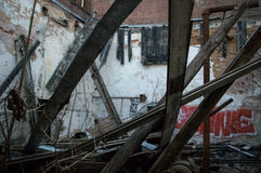 Abandoned Mill in Newry, SC Royalty Free Stock Photos