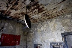 Abandoned Mine 2. Interior of an old mining building Stock Photography