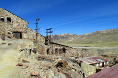 Abandoned mine building in Bolivia Stock Image