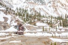 Abandoned mine building Stock Photo