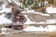 Abandoned mine building Royalty Free Stock Image