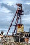 Abandoned mine. Destroyed and abandoned salt mine  on crisis time Stock Photography