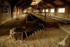 Abandoned mine factory makes it a ghost place royalty free stock images