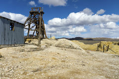 Abandoned mine in the Nevada Desert. Abandoned mining operation in Northern Nevada Stock Photos