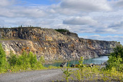 Abandoned mine. Northern Finland, Lapland royalty free stock photos