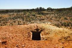 Abandoned Mine Shaft Stock Photo