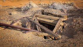 Abandoned Mine Shaft in Western Gold Rush Town Stock Photography