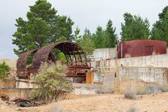 Abandoned Mine Site Stock Photo
