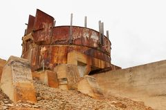 Abandoned Mine Site. Formerly mining Gold, Silver, Copper stock photo