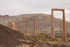 Abandoned mine structure Royalty Free Stock Images