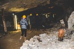 Abandoned mine - visitors Stock Image