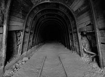 Abandoned Mine. An abandoned mine that was used decades ago to extract copper royalty free stock photography