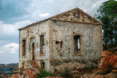 Abandoned mine workshops in Spain. Abandoned old industrial buildings mine in Andalusia, Spain Stock Photo