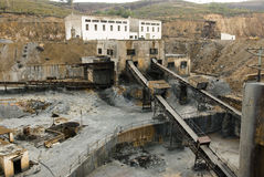 Abandoned mine workshops in Spain. Stock Photos