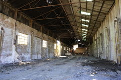 Abandoned mine workshops warehouse Stock Images