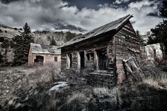 Abandoned miner's house in Colorado Royalty Free Stock Images