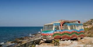 Abandoned minibus Royalty Free Stock Images