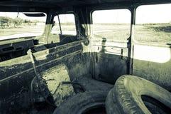 Abandoned minibus Royalty Free Stock Photography