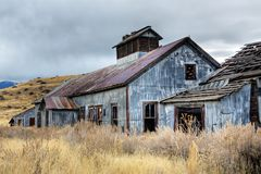 Abandoned mining buildings Royalty Free Stock Image