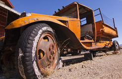 Abandoned Mining Flat Bed Truck Royalty Free Stock Image