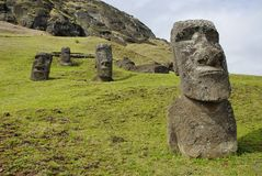 Abandoned moai Royalty Free Stock Photo