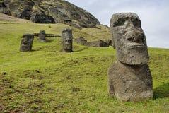 Abandoned moai Royalty Free Stock Photo