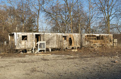 Abandoned Mobile Home Royalty Free Stock Image