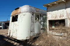 Abandoned mobile homes Stock Image