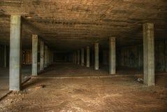 Abandoned modern construction. Empty warehouse Royalty Free Stock Image