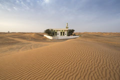 abandoned mosque in a desert Stock Image