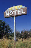 Abandoned Motel. A sign is all that remains of an old roadside motel just outside Durango, Colorado, USA Royalty Free Stock Images