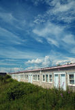 Abandoned motel in gaspesie Stock Images