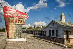 Abandoned motel on historic route 66 in Missouri Stock Photos