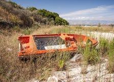 Abandoned motor boat Royalty Free Stock Photo