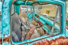Abandoned Motorvehicles  in a Utah Ghost Town Royalty Free Stock Photo