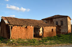 Abandoned mud brick houses Royalty Free Stock Images