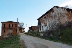 Abandoned mud brick houses Stock Photo
