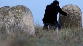 Abandoned muslim cemetery stock video footage