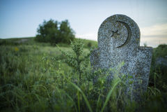 Abandoned Muslim tomb stone Royalty Free Stock Photography