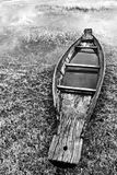 Abandoned native Thai style wood boat Royalty Free Stock Photography